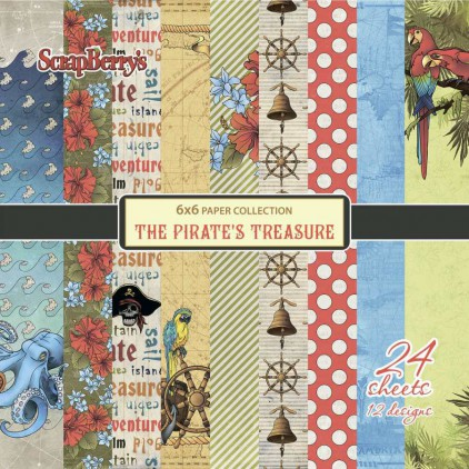 Mały bloczek papierów do scrapbookingu - ScrapBerry's - The Pirate's Treasure