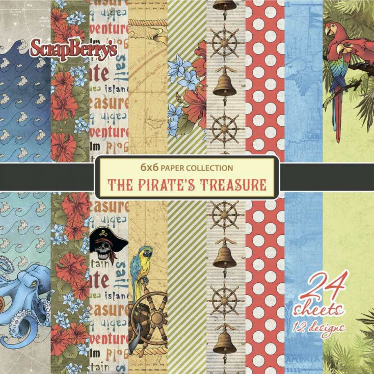 Set of scrapbooking papers - ScrapBerry's - The Pirate's Treasure