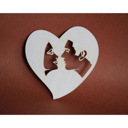 Filigranki - Cardboard element - kiss