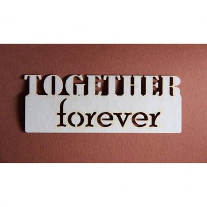 Filigranki - Cardboard element - Together forever