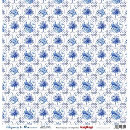 Scrapbooking paper - Scrapberry's -Rhapsody in Blue - Dutch Mosaic
