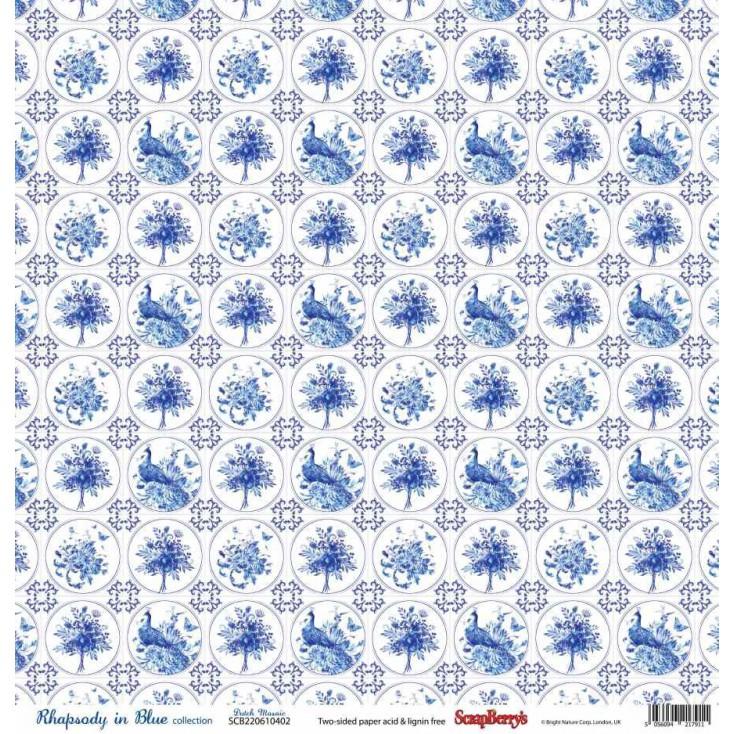 Scrapbooking paper - Scrapberry's -Rhapsody in Blue - Dutch Mosaic