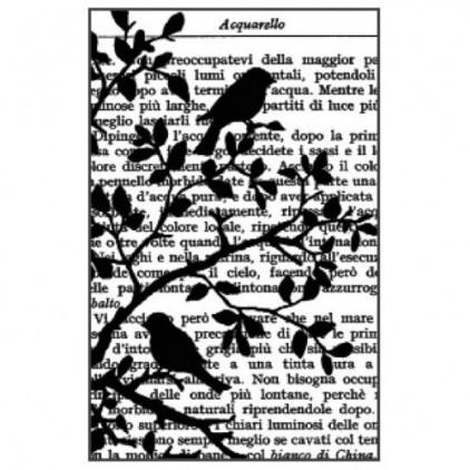 Stempel / pieczątka - Stamperia - Ptaszek na gałęzi