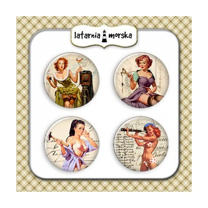 Selfadhesive buttons/badge - Pin Up Girls 1