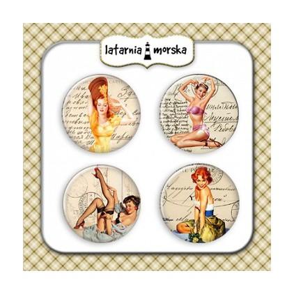 Ozdoby samoprzylepne, buttony -Pin Up Girls 2