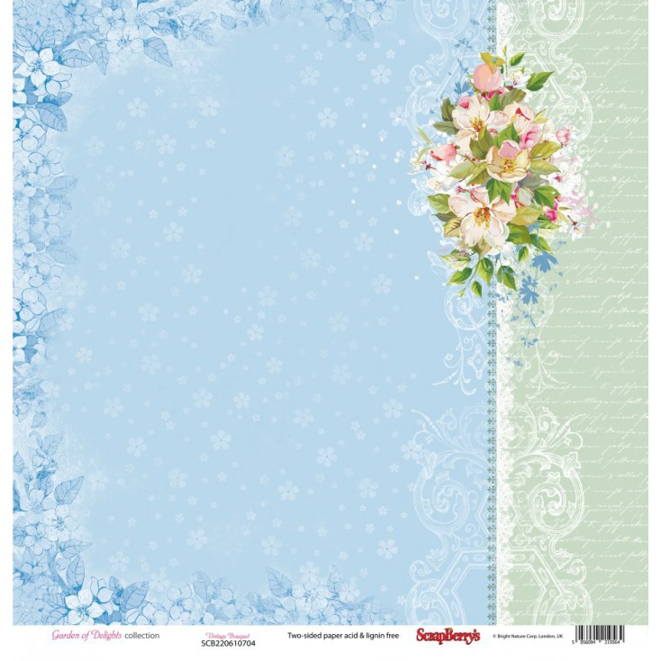 Scrapbooking paper - Scrapberry's - Garden of Delights - Vintage Bouquet