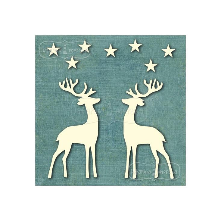 Latarnia MOrska - Cardboard element - reindeers and stars