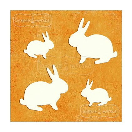 Latarnia Morska - Cardboard element -easter bunnies