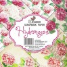 Decorer - Set of scrapbooking papers - Hydrangeas