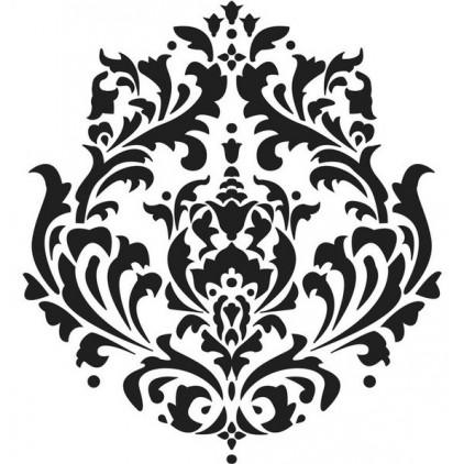 Warstwy i struktury możesz zrobić sama - Crafter's Workshop - Maska, szablon 15x15cm - Mini Brokade