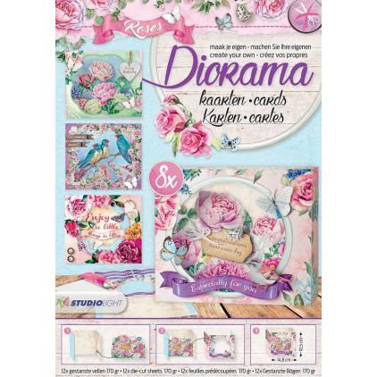 Scrapbooking paper pad - Studio Light - Diorama Roses - Die Cut Block