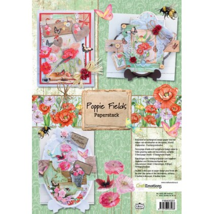 Scrapbooking paper pad - Craft Emotions - Poppie Fields