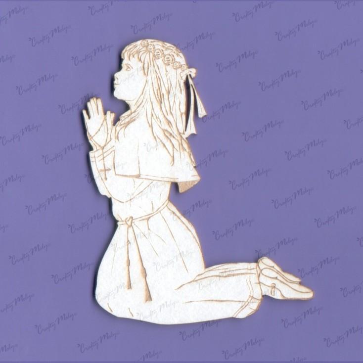 Crafty Moly - Cardboard element -First Communion girl