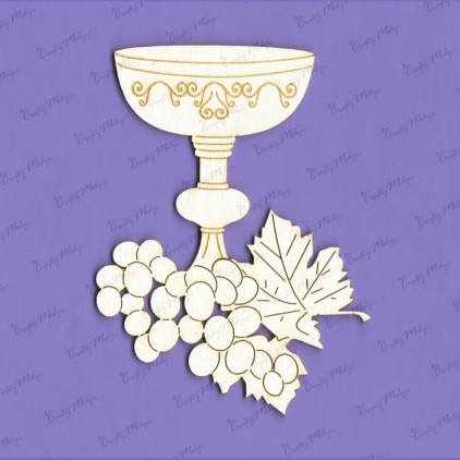 cardboard element communion goblet with grape - Crafty Moly 1260