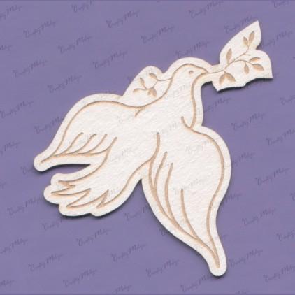 tekturka gołąb z gałązką - Crafty Moly 1220