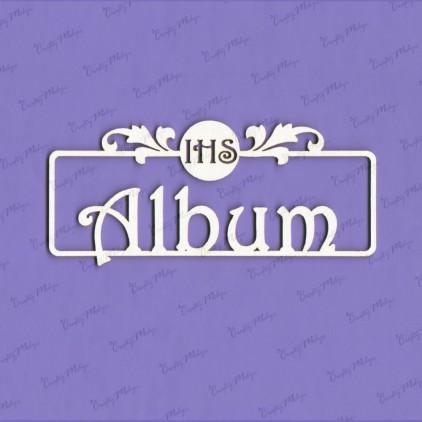 tekturka ramka napis album IHS - Crafty Moly 030