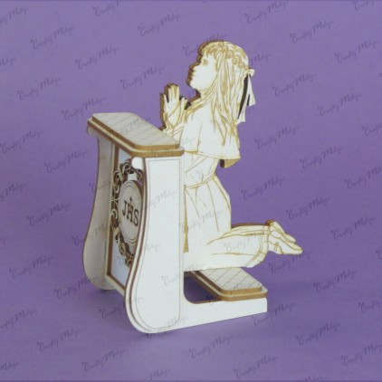 tekturka klęcznik 3d dziewczynka - Crafty Moly -1385