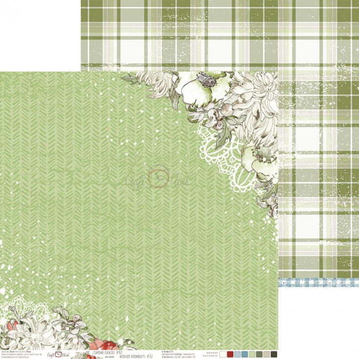Papier do tworzenia kartek i scrapbookingu - Craft O Clock - Zimowe Chwile 02