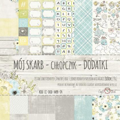Zestaw papierów do tworzenia kartek i scrapbookingu - Craft O Clock - Mój Skarb Chłopczyk Dodatki