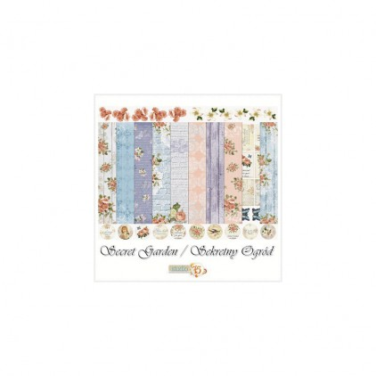 Set of scrapbooking papers - Studio 75 - Secret garden