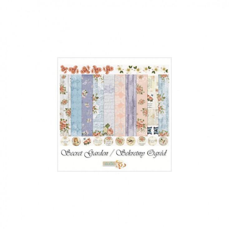 Set of scrapbooking papers - Studio 75 - Secret garden