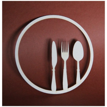 Filigranki - Cardboard element - cutlery in a circle H045