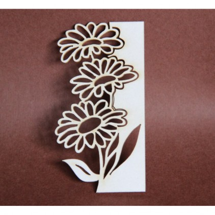 Filigranki - Cardboard element - flora 025