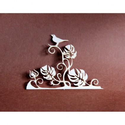 Filigranki - Cardboard element - flora 003