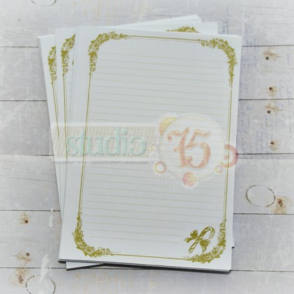 notebook insert - Studio 75 - green - christmas