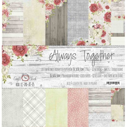 Set of scrapbooking papers - Craft O Clock - Always Together