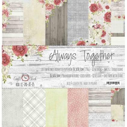 Zestaw papierów do tworzenia kartek i scrapbookingu  - Craft O Clock - Always Together