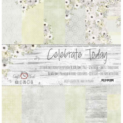 Set of scrapbooking papers - Craft O Clock - Celebrate Today