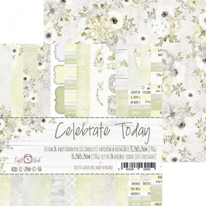 Pad of scrapbooking papers - Craft O Clock - Celebrate Today