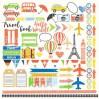 Papier do tworzenia kartek i scrapbookingu - Fabrika Decoru - Europejskie wakacje - Obrazki do wycinania
