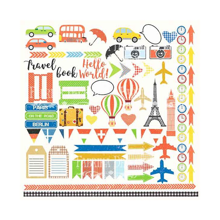 Scrapbooking paper - Fabrika Decoru - European holiday - Pictures for cuttingys