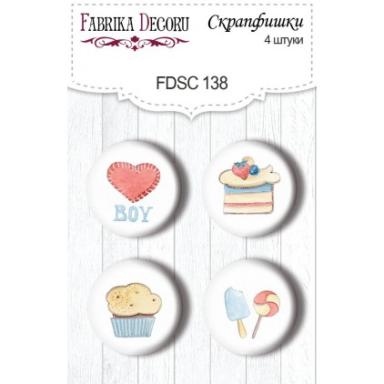 Selfadhesive buttons/badge - Fabrika Decoru - Sweet baby boy 138