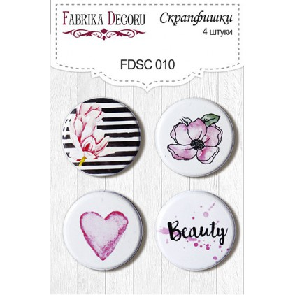 Selfadhesive buttons/badge - Fabrika Decoru -  Magnolia sky 010