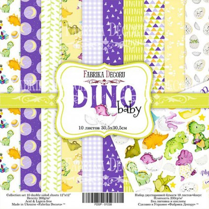 Set of scrapbooking papers - Fabrika Decoru - Dino baby