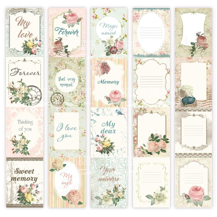 Scrapbooking paper- Fabrika Decoru - Letters of love - Pictures for cutting 5 strips
