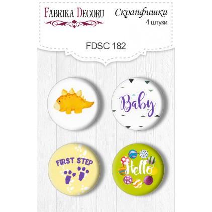 Selfadhesive buttons/badge - Fabrika Decoru - Dino baby