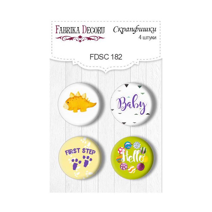 Ozdoby samoprzylepne, buttony - Fabrika Decoru - Dino baby