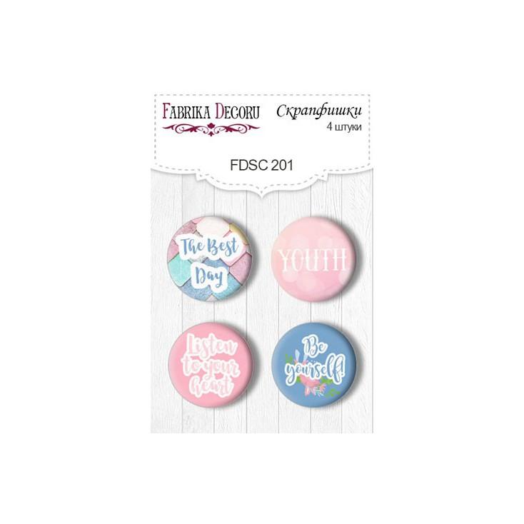 Selfadhesive buttons/badge - Fabrika Decoru - Believe in miracle