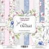 Zestaw papierów do tworzenia kartek i scrapbookingu - Fabrika Decoru - Delikatna orchidea