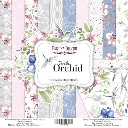 Zestaw papierów do tworzenia kartek i scrapbookingu - Fabrika Decoru - Wrażliwa orchidea