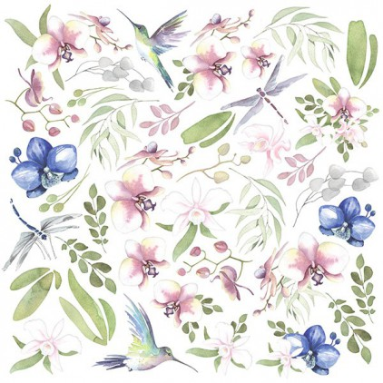 Scrapbooking paper - Fabrika Decoru - Tender orchid - Pictures for cutting