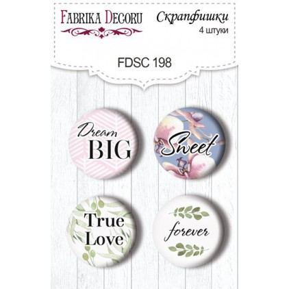 Selfadhesive buttons/badge - Fabrika Decoru -  Tender Orchid 198