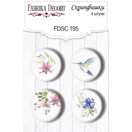Ozdoby samoprzylepne, buttony - Fabrika Decoru - Delikatna Orchidea 195