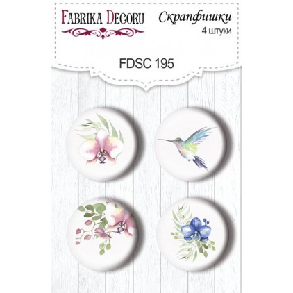 Selfadhesive buttons/badge - Fabrika Decoru -  Tender Orchid 195