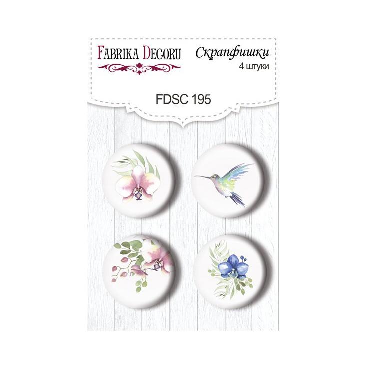 Selfadhesive buttons/badge - Fabrika Decoru - Tender Orchid 02