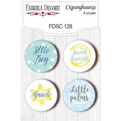 Selfadhesive buttons/badge - Fabrika Decoru - My little boy 128